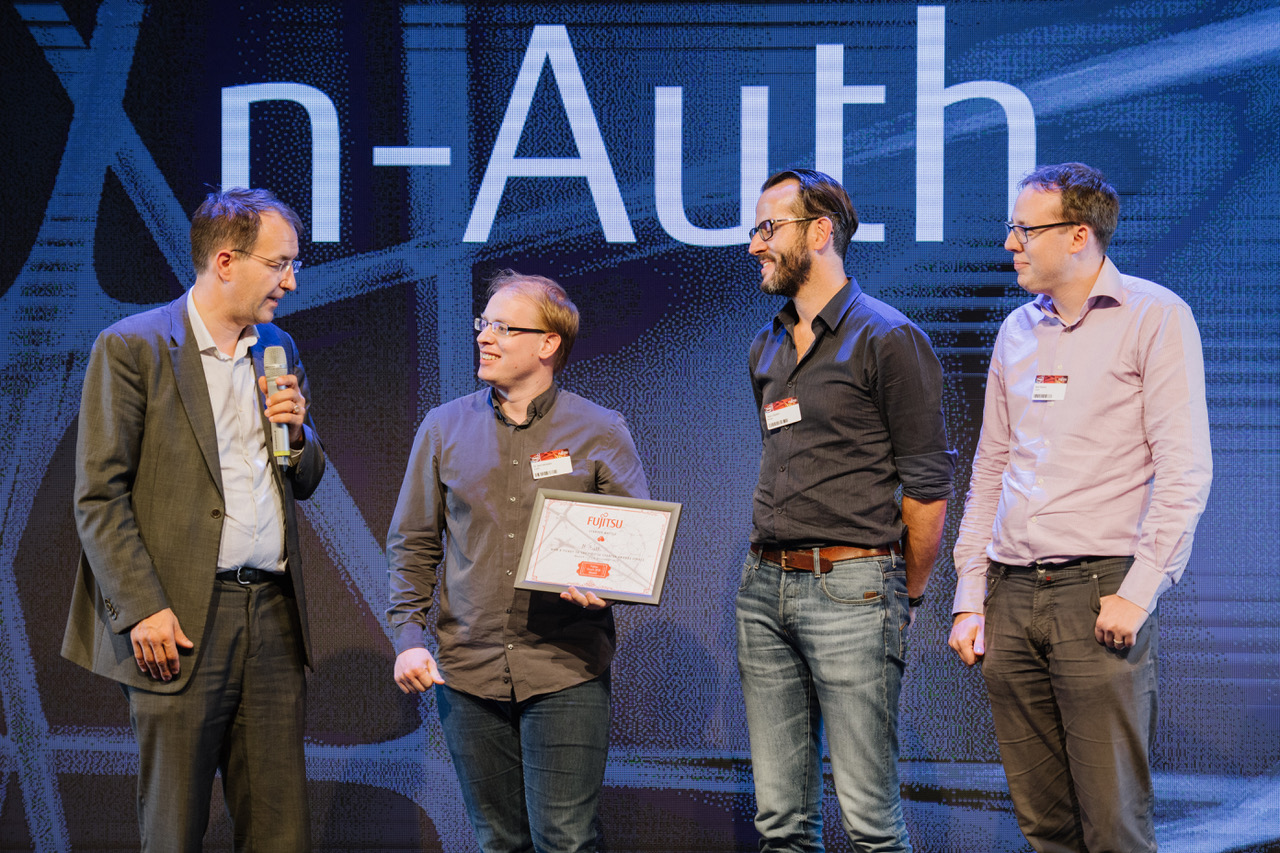n-Auth wins start-up award Fujitsu World Tour Brussels